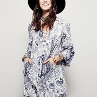 Free People Womens Rain or Shine Mini Dress