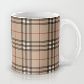 Burberry plaid Designer pattern Mug by All Is One
