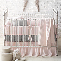 Frayed Voile & European Dotted Percale Nursery Bedding Collection | Restoration Hardware Baby & Child