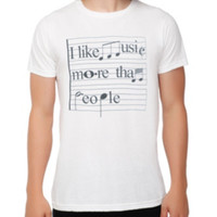 Like Music More Than People T-Shirt