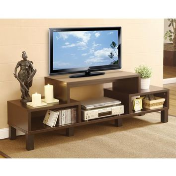 Modern 60-inch TV Stand with Audio Video Media Storage Shelves