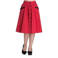 Hell Bunny Women's Martie 50s Red Skirt
