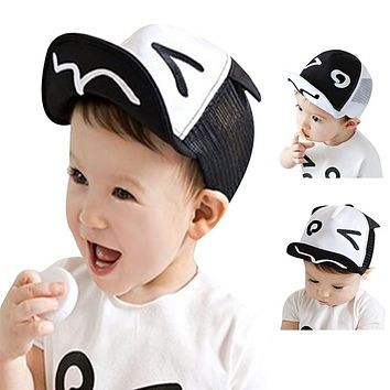 Soft Brim Kids Hats Sun Hats Children's Baby Baseball Beret Caps Cute Boy Girl