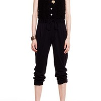 Chic Sleeveless Drawstring Jumpsuits with Single-breasted Detail