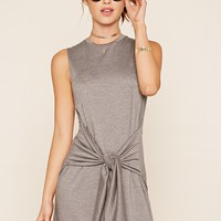 Heathered Tie-Front Dress
