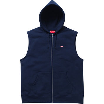 Supreme: Small Box Zip Up Vest - Navy
