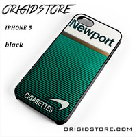 Newport Cigarette Green For Iphone 5 Iphone 5S Case YG