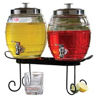 One Kings Lane - Take It Outside - Beverage Dispenser Set w/ Rack
