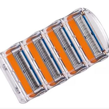 DCCKR2 Gilett 4pcs/lot blade razor blade is used for the man Gilett fused electric razor blade