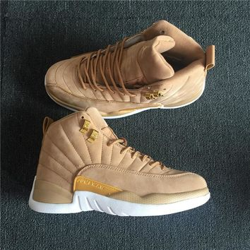 Nike Air Jordan 12 Retro Men Basketball Shoes wheat-colored