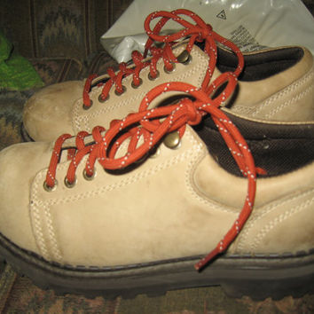 vintage American Eagle brown suede leather WAFFLE STOMPERS Hiking boots sz 9