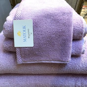 Set of Milagro Wisteria Towels by Matouk   CLEARANCE