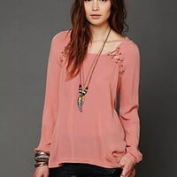 Free People Lace Up Back Top