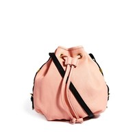 River Island Light Pink Mini Leather Duffle Bag
