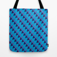 Blue Diamonds Tote Bag by Stay Inspired