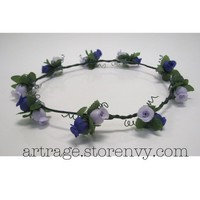 Purple/Lavender Floral Crown