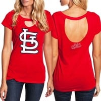 St. Louis Cardinals Ladies Cutout Tee | SportyThreads.com