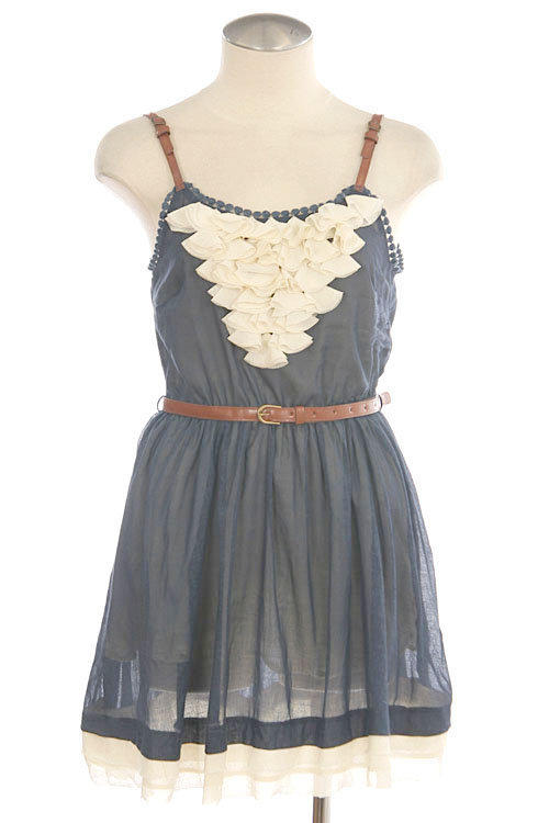 Faux Leather Cami Dress