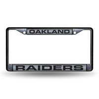 OAKLAND RAIDERS BLACK LASER CHROME FRAME