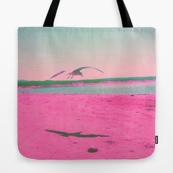 Beach Day Tote Bag by Ducky B