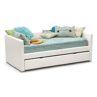 Carey Twin Daybed with Trundle - White