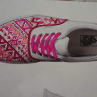 Pink Aztec/Tribal Shoes MADE TO ORDER