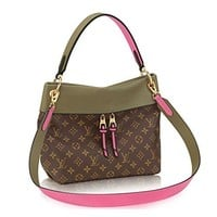 LV Women Shopping Leather Tote Handbag Shoulder Bag Louis Vuitton Monogram Canvas Tuileries Besace Shoulder Cross Handbag Khaki Article:M43159