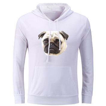 iDzn Women's Printed Hoodies The Pug Dog Animal AWW Cute Love Hawaii Fashion Casual Autumn Girl's Sweatshirts Female Tops S-3XL