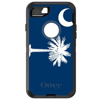DistinctInk™ OtterBox Defender Series Case for Apple iPhone / Samsung Galaxy / Google Pixel - South Carolina State Flag