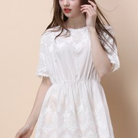 Gentle White Embroidered Tunic