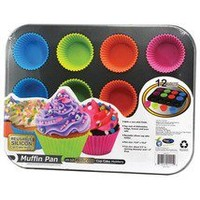 Professional Cupcake Pan Set with Deluxe Cupcake Decorating Kit  - Cupcake & Muffin Pans