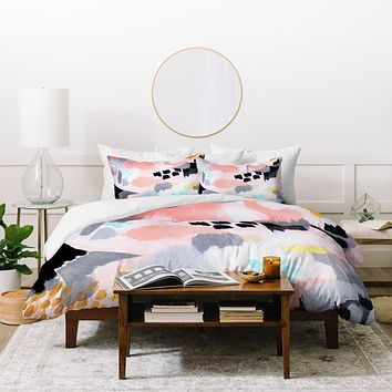 Laura Fedorowicz Serenity Abstract Duvet Cover