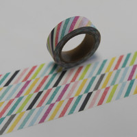 Washi Tape Masking Tape bunt gestreift