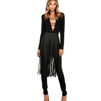 Black Fringe Frenzy Belt
