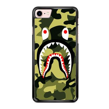 Bape Shark Green Camo iPhone 7 Case