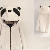 Cute cartoon Panda cardigan coat