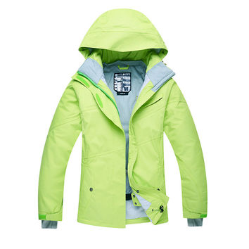 Women Ski Jacket Snowboarding Solid color Warm Waterproof Windproof Breathable Skiing Jackets Clothes