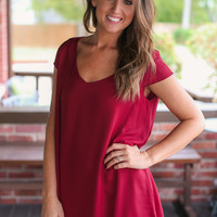 Out on the Town Dress - Maroon