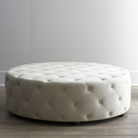 """Bevin"" Tufted Ottoman - Horchow"