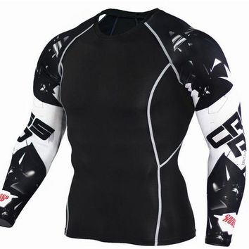 Cross Road 3D Printed Compression Long Sleeve Shirt