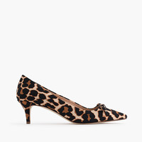 J.Crew Womens Dulci Kitten-Heel Pumps With Bow