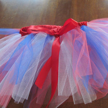 NY Giants/New England Patriots themed Red, White, and Blue basic Tutu size 2T