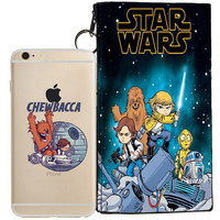 Star Wars (Chewbacca) Jelly Clear Case For Apple Iphone 6/6s + Pouch