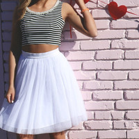 Modern Day Chanel Tulle Skirt & Crop Two Piece Dress