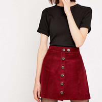 Urban Renewal Vintage Remnants Burgundy Cord A Line Skirt - Urban Outfitters