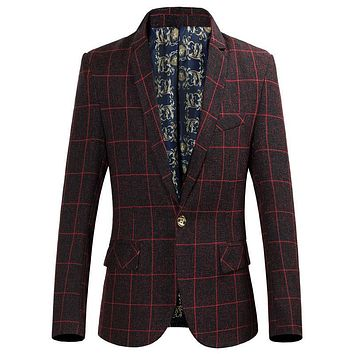 New Fashion Brand Men Blazer Male Blazers Casual Business Suit Jacket Men Slim Fit Jacket Suit For Men
