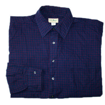 Vintage LL Bean Button Up Shirt Made in USA Mens Size XL