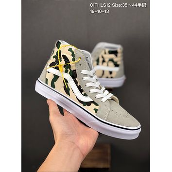 Vans SK8 Hi Reissue cheap mens and womens Fashion Canvas Flats Sneakers Sport Shoes