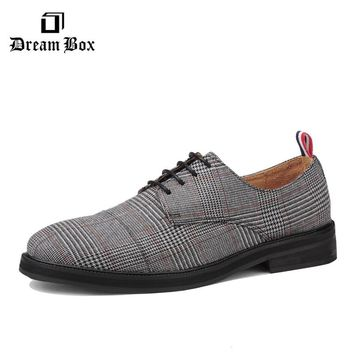 dreambox Summer New England style men's leisure vintage and vintage bird with a low leather shoes