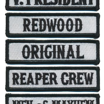 Officer Rank Motorcycle Club MC Title Patches